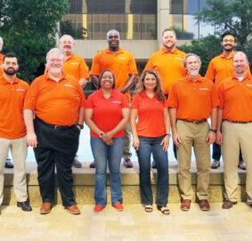 Team Photo Orange Shirts